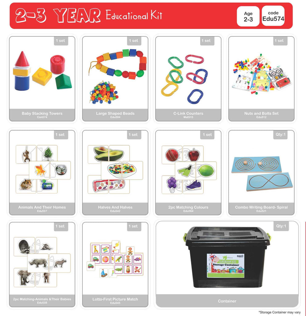 Educational Kit - 2 to 3 Years