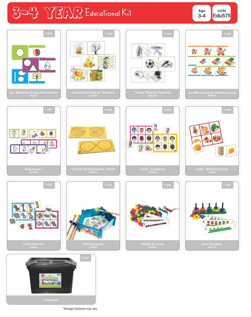 Educational Kit - 3 to 4 Year