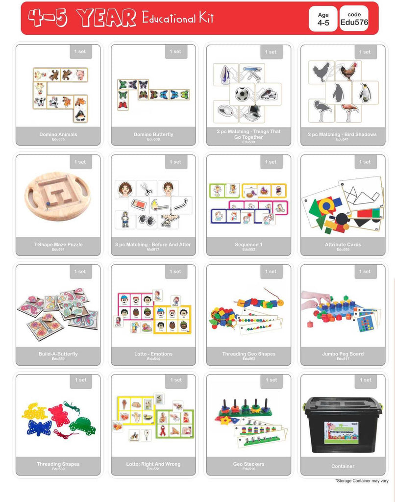 Educational Kit - 4 to 5 Year