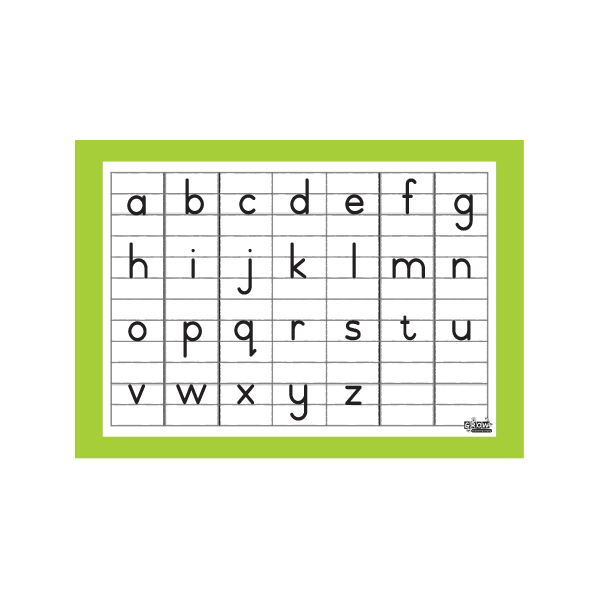 Alphabet Lower Case - A3