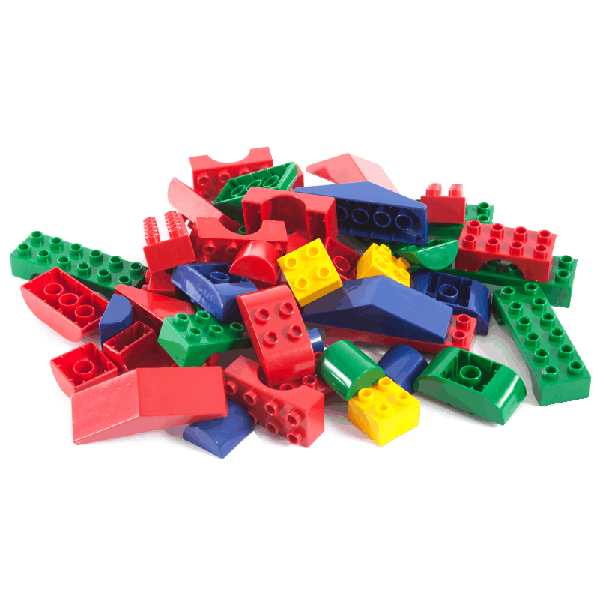 Assorted Jumbo Blocks- 3kg in Black Utility Crate