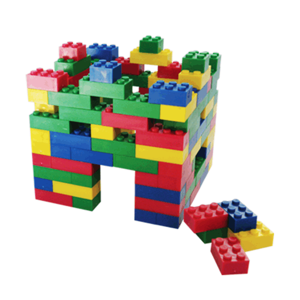 Basic Plastic Building Blocks - Small in Refill Bag