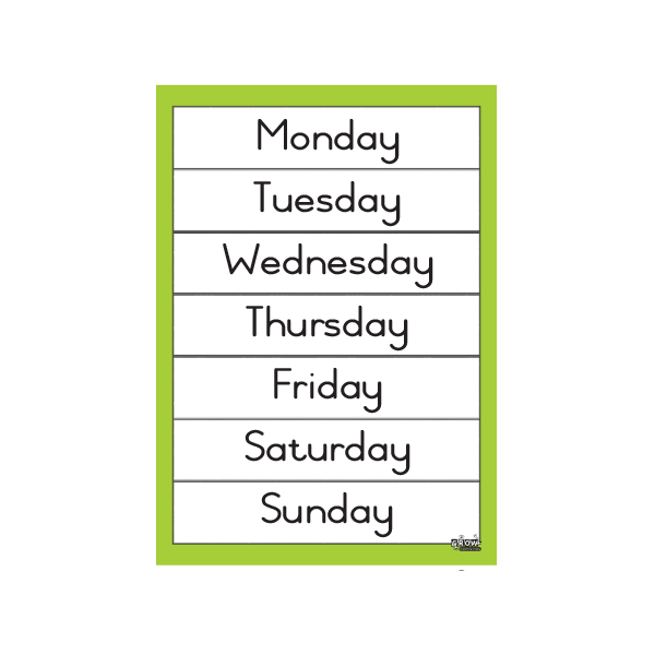 Days of the Week - A3