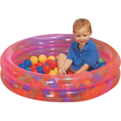 Double Ring Inflatable Pool with 50 Balls