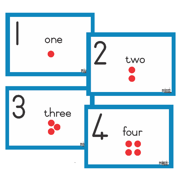 Flash Cards - Numbers, Symbols & Names 1-20
