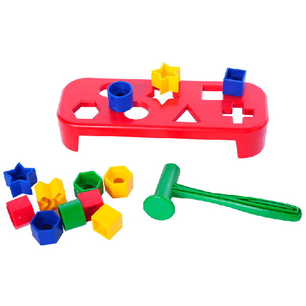 Hammer and Bench with Geo Shapes