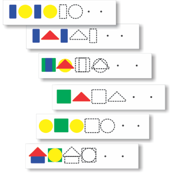 Plastic Strips - Shape Sequence