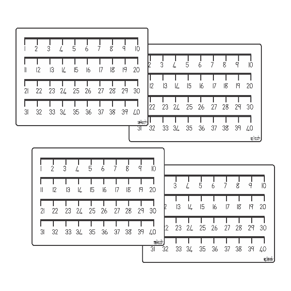 Pupil Desk Cards - 1 to 40 Number Line