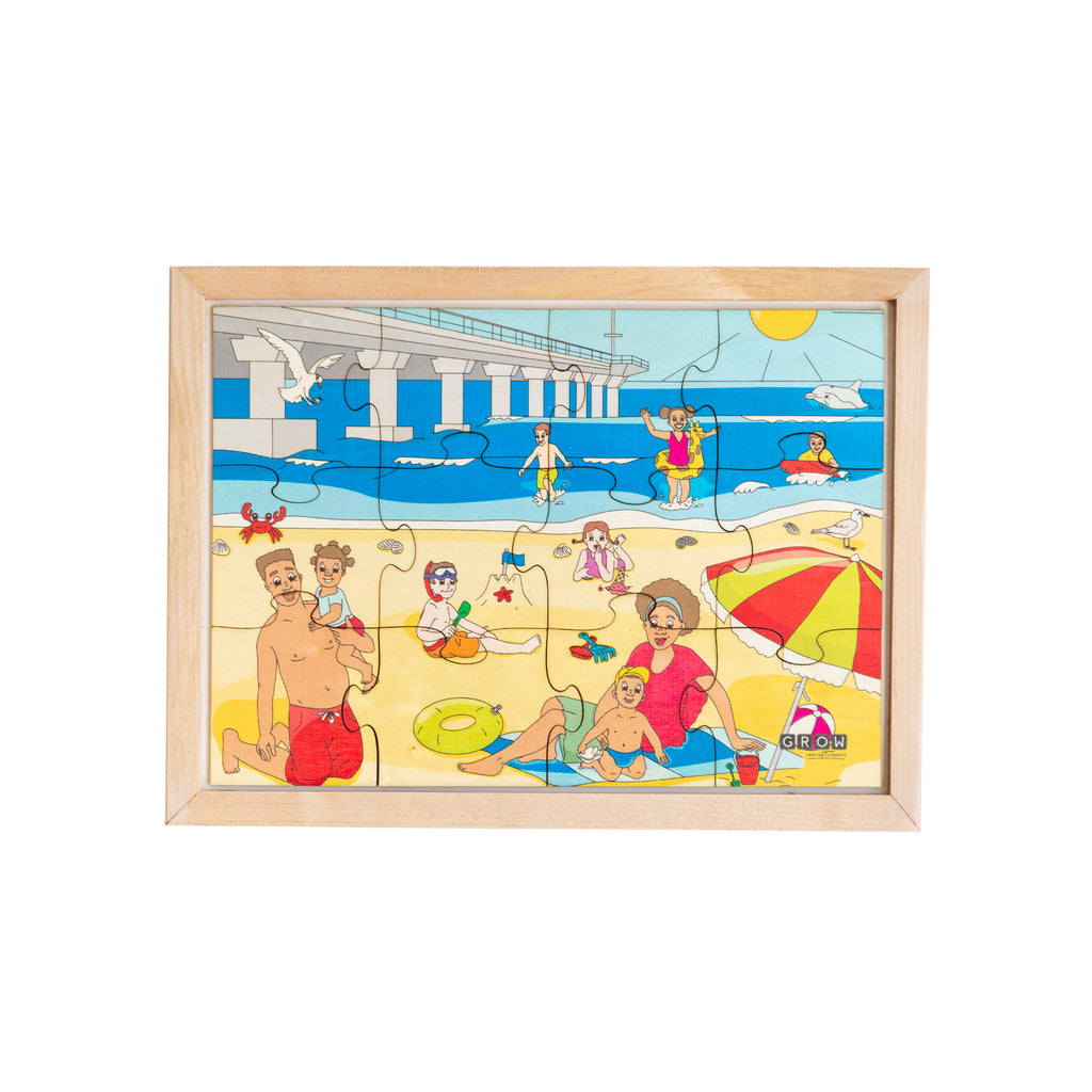 Holiday at the Beach 12 Piece Puzzle (box)