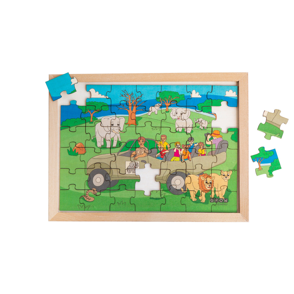 Safari Adventure 42 Piece Puzzle (tray)