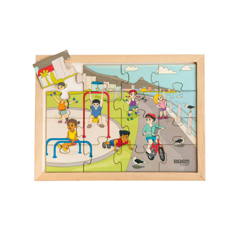 Exercise & Outdoor Fun 16 Piece Puzzle (tray)