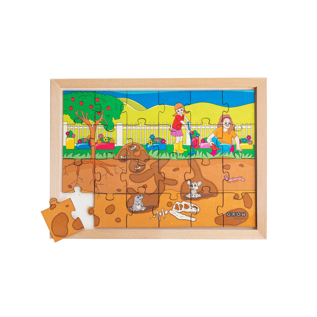 Above & Below our Garden  24 Piece Puzzle (box)