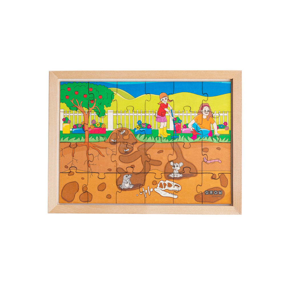 Above & Below our Garden 24 Piece Puzzle (tray)