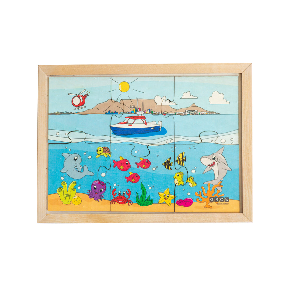 Above & Under the Ocean 6 Piece Puzzle (tray)
