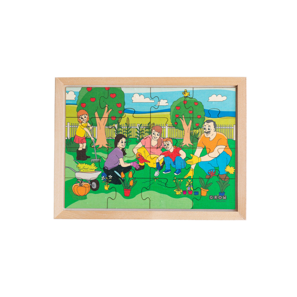 Our Family Garden 16 Piece Puzzle (tray)