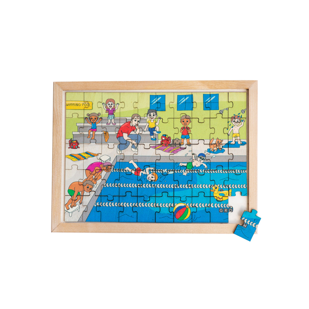 Swimming Gala 50 Piece Puzzle (tray)
