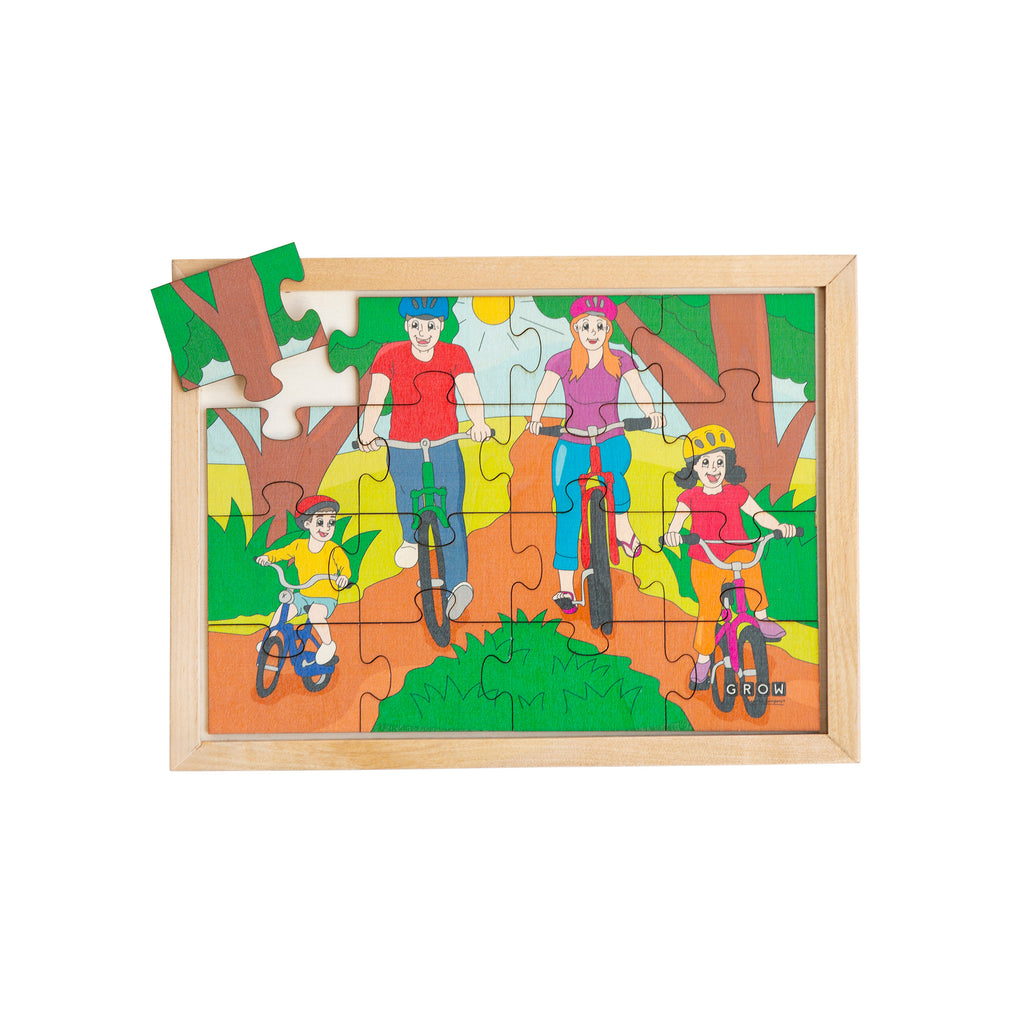 Cycling is Fun 16 Piece Puzzle (tray)