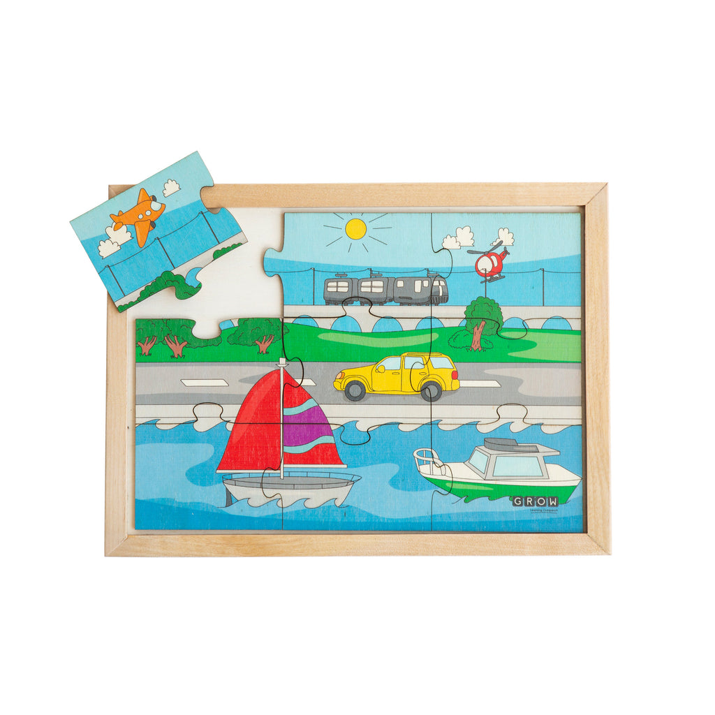 Sea, Land, Air Transport 9 Piece Puzzle (box)