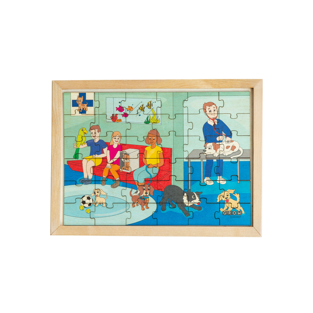 Visiting the Vet 36 Piece Puzzle (tray)