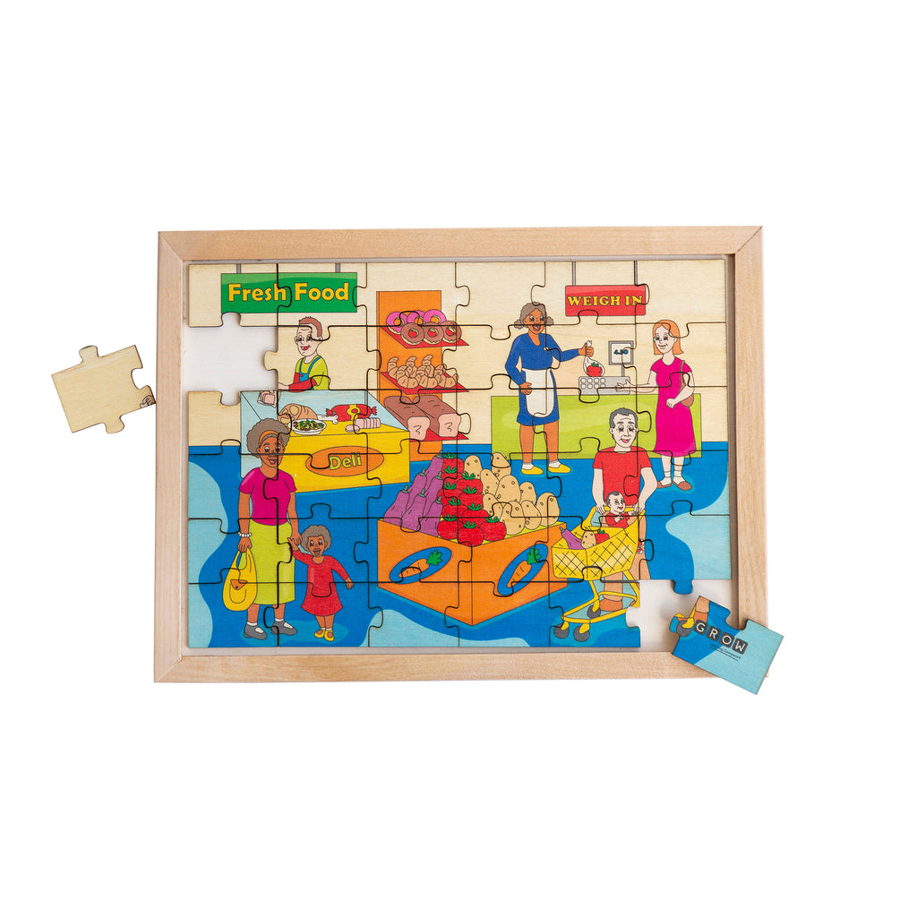 Shopping at the Grocery Store 36 Piece Puzzle (box)