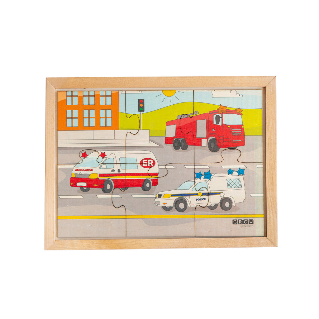Safety Vehicles 6 Piece Puzzle (tray)