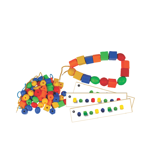 Shaped Beads, Laces & Activity Cards - Large
