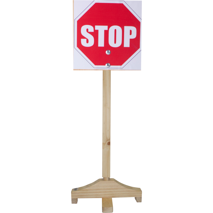 Stop  - Sign and Wooden Pole
