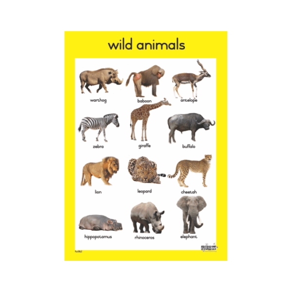 Theme - Wild Animals - A3 Single Chart