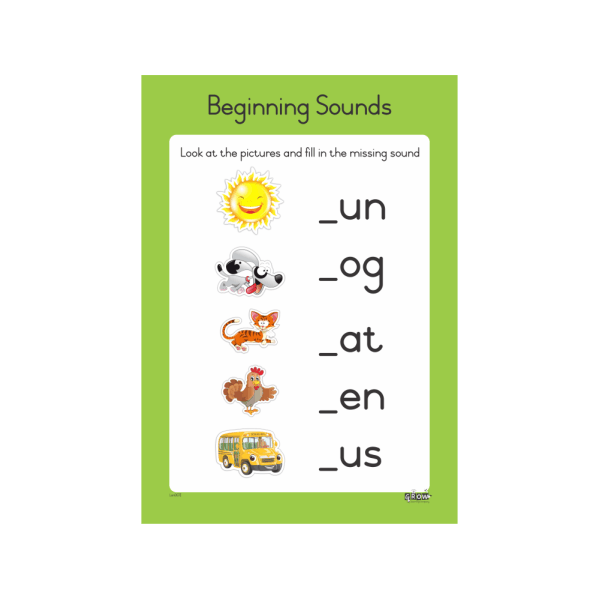 Wall Chart - Beginning Sounds A3