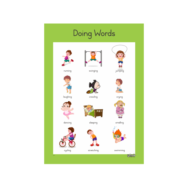Wall Chart - Doing Words - A3