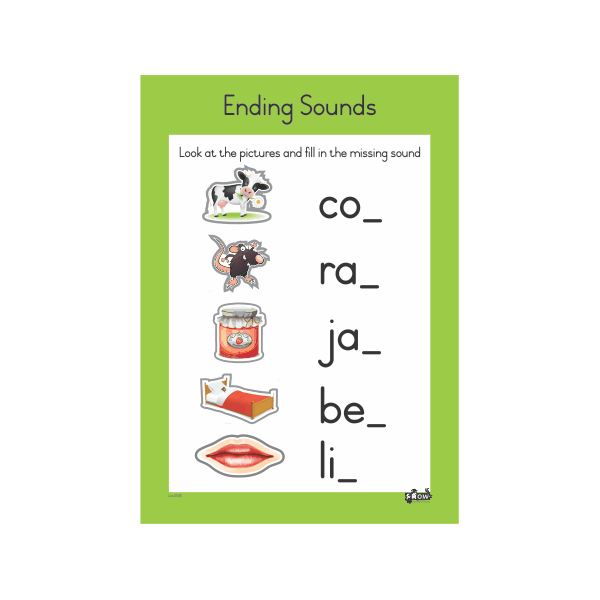 Wall Chart - Ending Sounds A2