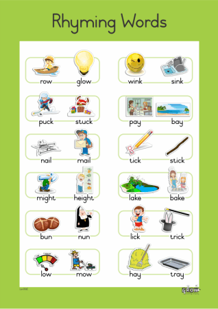 Wallcharts - Rhyming Words - A2