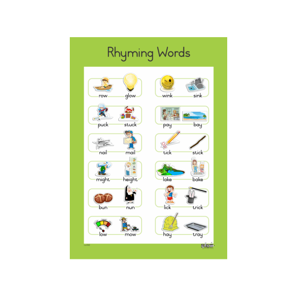 Wall Chart - Rhyming Words A3