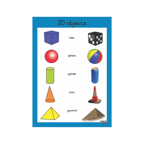 Wall Chart 3D Objects Gr 1 - 3 - A2