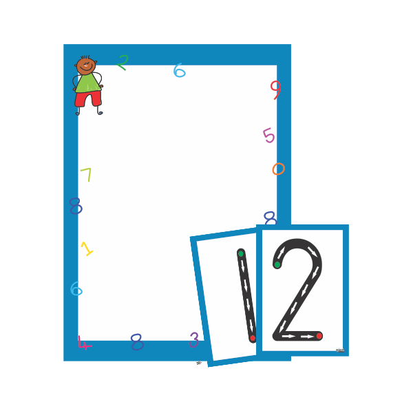 Wall Chart Number Formation Set 0 - 9 - A3