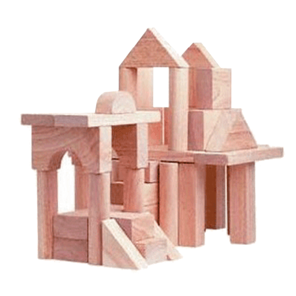 Wooden Blocks - Jumbo Natural in Refill Bag