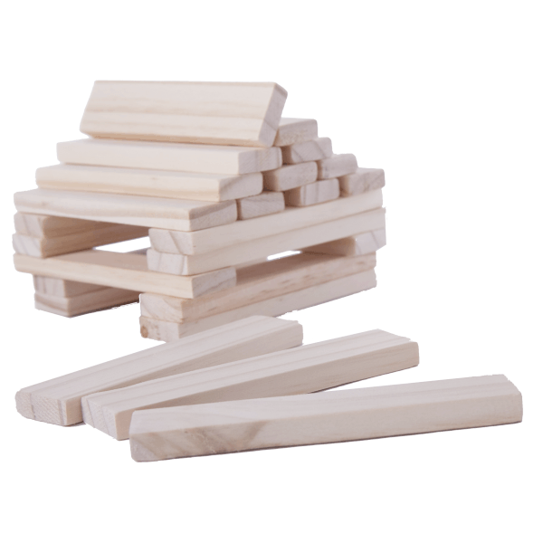 Wooden Blocks - Recta Natural in 10L Round Container