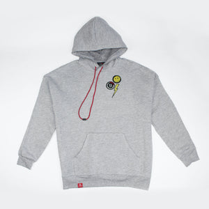 Happy face grey hoodie