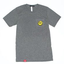 Load image into Gallery viewer, Happy sunny face grey t-shirt