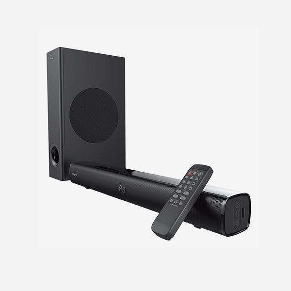Creative - Stage [2.1 High Performance Under-monitor Soundbar with Subwoofer for TV, Computers, and Ultrawide Monitors]
