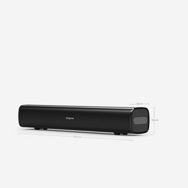 Creative - Stage Air [Compact Under-monitor Soundbar for Computer, with Bluetooth®, AUX-in, and USB MP3]