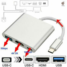 Load image into Gallery viewer, Type C to HDMI 3 in 1 Adapter