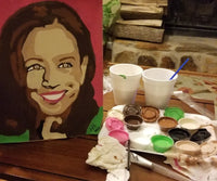 Vice President Kamala Harris Paint By Numbers DIY Paint & Sip Kit