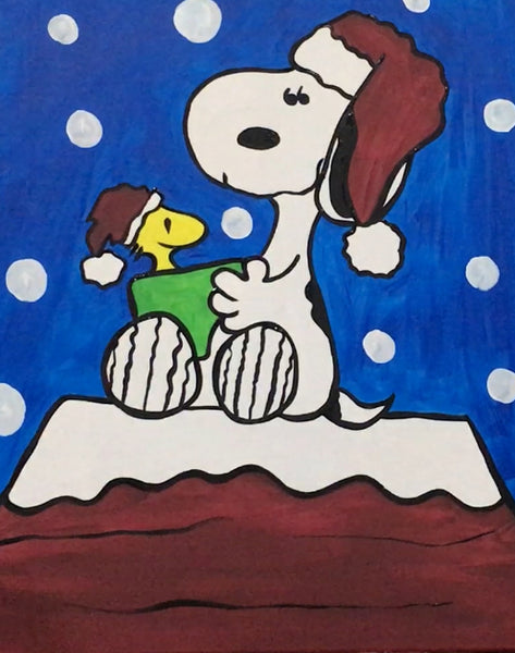 """A Peanuts Christmas 8 x 10"" (Snoopy & Woodstock)"