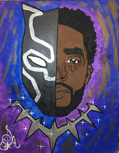 Load image into Gallery viewer, Chadwick Boseman black panther wakanda forever Sip And Paint DIY Kit With Instructional Video