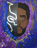 Chadwick Boseman black panther wakanda forever Sip And Paint DIY Kit With Instructional Video