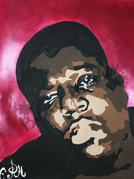 Biggie Smalls Notorious BIG Christopher Wallace Paint By Numbers DIY Paint & Sip Kit