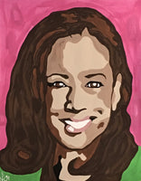Kamala Harris Paint By Numbers Kit, Amazing Paint By Numbers Kit, DIY Painting Kit, Paint Party, Paint and Sip, Wine And Paint, Virtual Painting Party, Vice President Kamala Harris, My VP Looks Like Me, AKA, Gifts For Her, Gift For Women, Gifts for Girls, Christmas Gift, DIY Gift, Joe Biden, Stroll To The Polls, Pink And Green