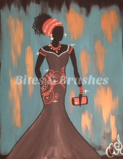 Black Beauty Sip And Paint DIY Kit With Instructional Video