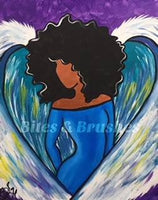 Heaven Sent Angel Sip And Paint DIY Kit With Instructional Video
